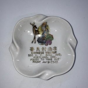 3/$20 SALE Vintage Ashtray Chinese Village